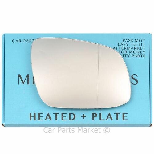 Right Driver side Wide Angle Wing mirror glass for Kia Rio 10-11 heated plate
