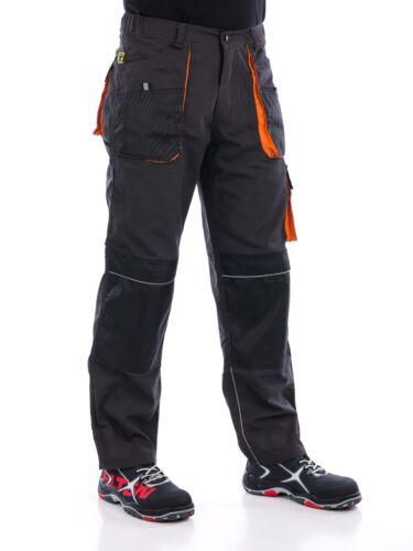 UK-Pantaloni da lavoro da uomo Heavy Duty Pantaloni Ginocchio Pad Tasche Cargo Combat Decoratori