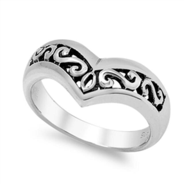Silver V-Ring Sterling Silver 925 Best Price Jewelry Size Selectable