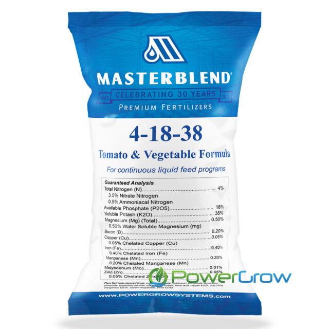 MASTERBLEND Official 4-18-38 Tomato & Vegetable Fertilizer BULK (5 Pounds)