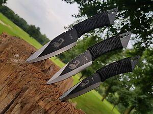 3er-Messer-Bowie-Jagdmesser-Hunting-Knife-Japanmesser-Costello-Macete-Neu