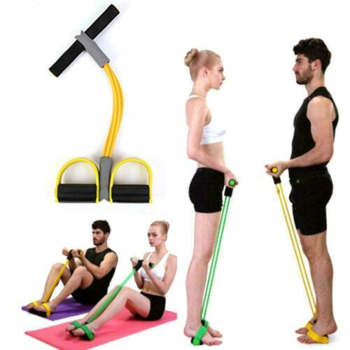 Multi-Function Tension Rope Fitness Pedal Exerciser Rope training kit Pull Y2P3