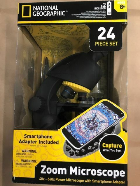 National Geographic Zoom Microscope 40x-640x With Smartphone Holder