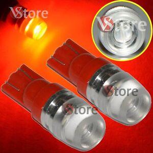 2-Led-T10-Lampade-2-SMD-5630-Luci-Rosso-Lente-Posizione-Targa-Xenon-Lampada-5W