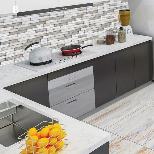 6//9pcs Waterproof Kitchen Home Decor Bathroom DIY PVC Mosaic Tile Wall Sticker