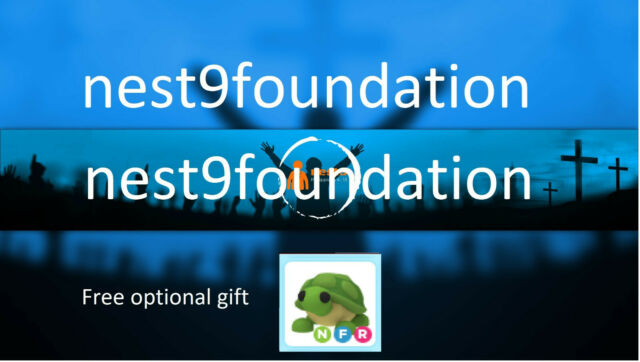 Original Nest9 Logo with Roblox Adopt Me Neon Turtle Fly ...