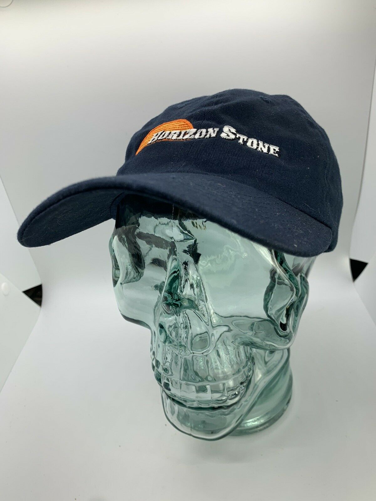Horizon Stein Bestickt Firma Logo Hut Baseball Kappe Einstellbar