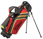 NEW TITLEIST ULTRA LIGHTWEIGHT STAND BAG GRAY TOMATO CITRON (RED YELLOW)