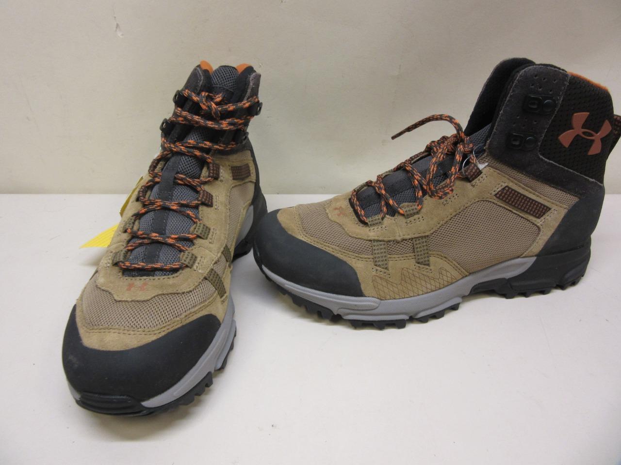 Under Armour Glenrock Mid 2.0 Hiking Shoes SMS Sample Men's size 9 Tan/Black