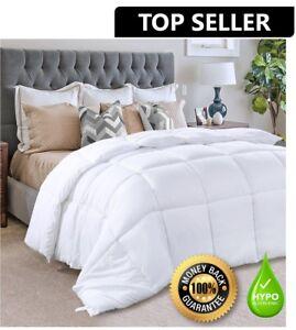 Hypoallergenic-Down-Alternative-Comforter-Duvet-Insert-White-Bed-Twin-Queen-King
