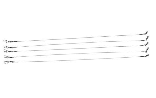 Titan Vorfächer mit Wirbel und Karabiner40cm20kg0,4mmArt 5 Stk 1x1