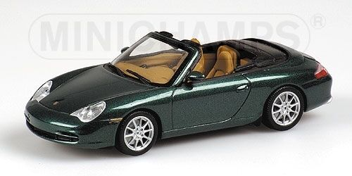 PORSCHE 911 Cabriolet 2001 vert Metallic 1 43 Model MINICHAMPS