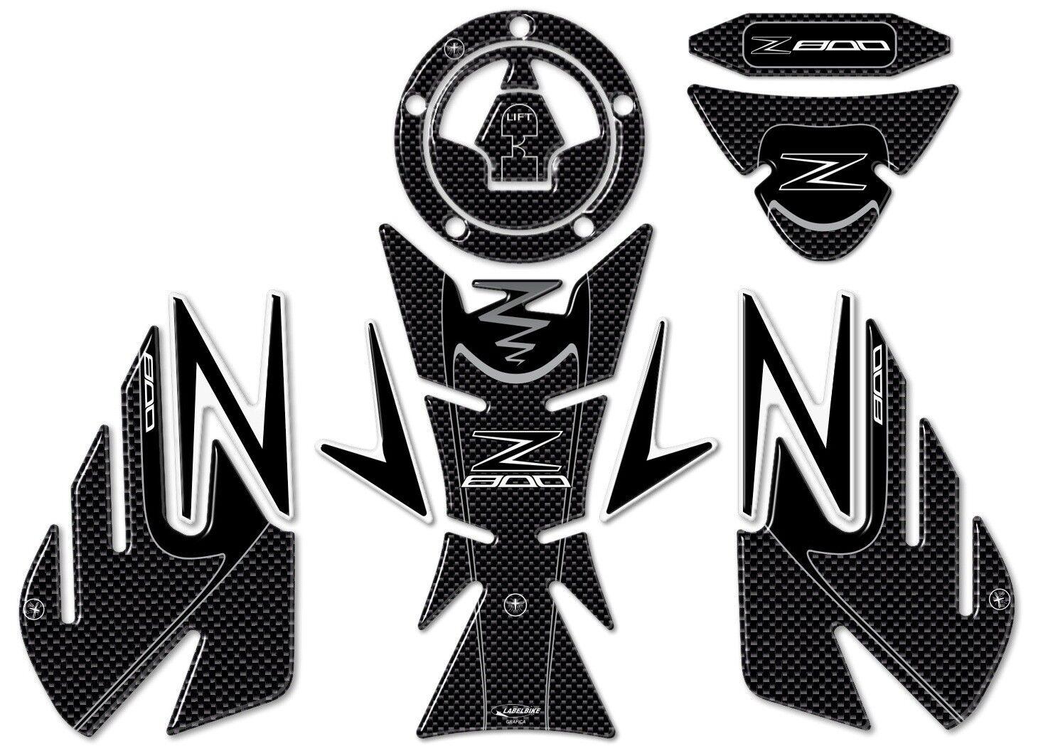 Set Kompatibel Gel Z Kohlenstoff Aufkleber Z800 Z Motorrad