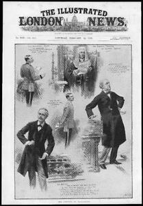 1898-Antique-Print-LONDON-Parliament-Lord-Milton-Balfour-Lockwood-Speaker-64