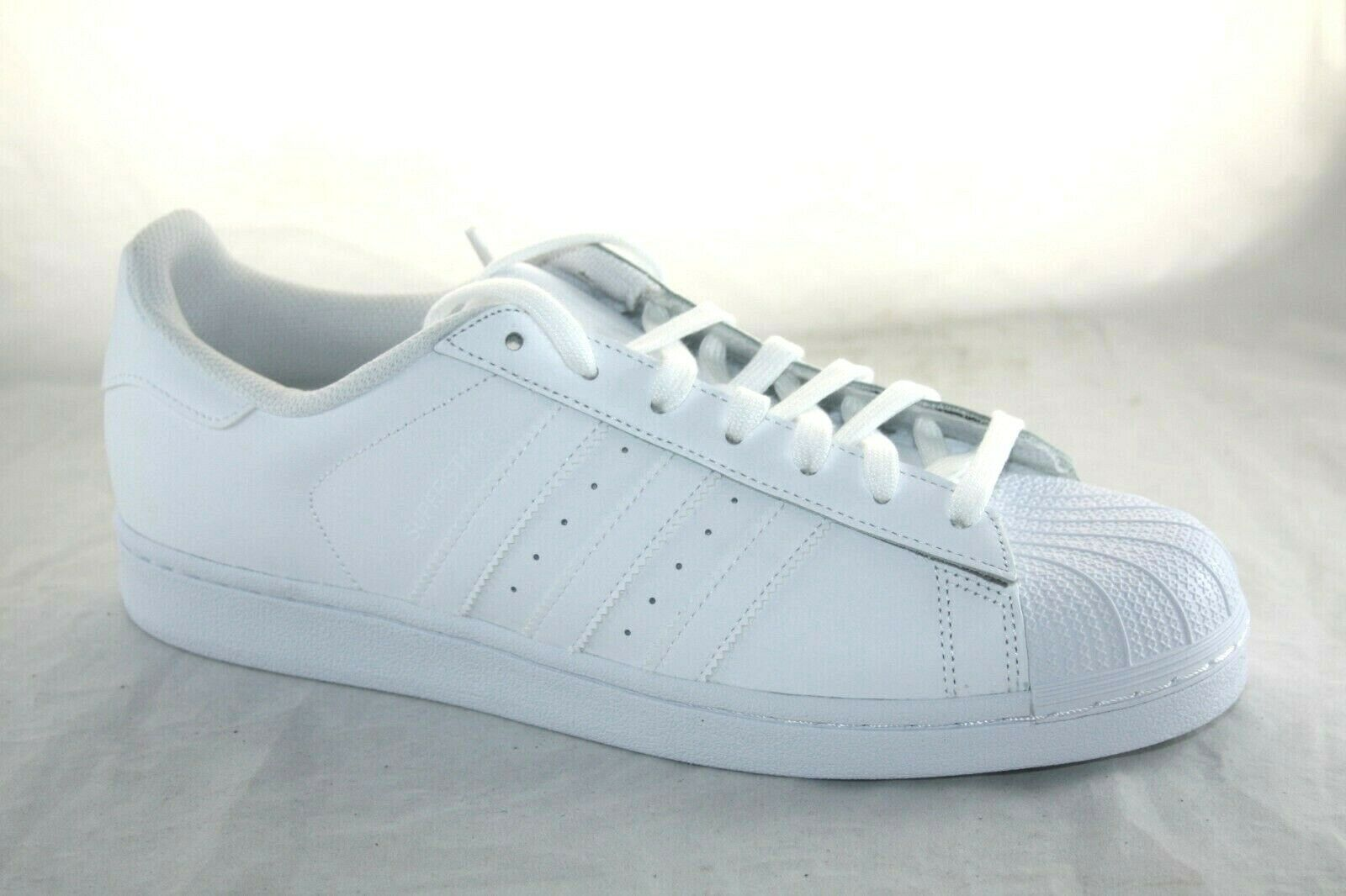 MEN'S ADIDAS SUPERSTAR FOUNDATION TRIPLE WHITE MSRP   80.00