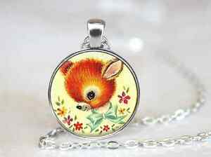 Baby-Deer-Kawaii-Farm-House-Deer-Glass-cabochon-pendant-chain-Necklace-78