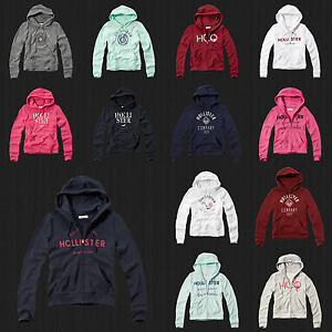 Image is loading New,Hollister,By,Abercrombie,Women,Sweater ,Embroidered,Logo,