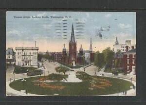 1916-THOMAS-CIRCLE-LOOKING-NORTH-WASHINGTON-DC-POSTCARD