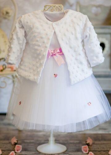 Nr.0KN1K Taufkleid Festkleid Taufgewand Kleid Taufe Hochzeit Babykleid