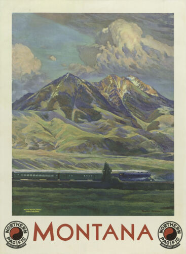 MONTANA..NORTHERN PACIFIC . Retro Travel//Promo Poster A2A3A4 Sizes