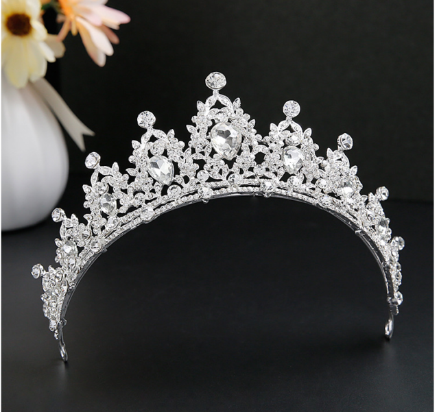 """Sheryl Marie 1//2/"""" Crystal Tiara Head Bandhair Jewelry for Wedding Prom Pageant"""