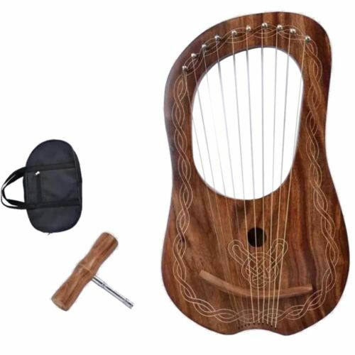 Kleine Lyra Mundharmonika 10 Saiten Verstellbare Top-Qualität Schöner Klang //