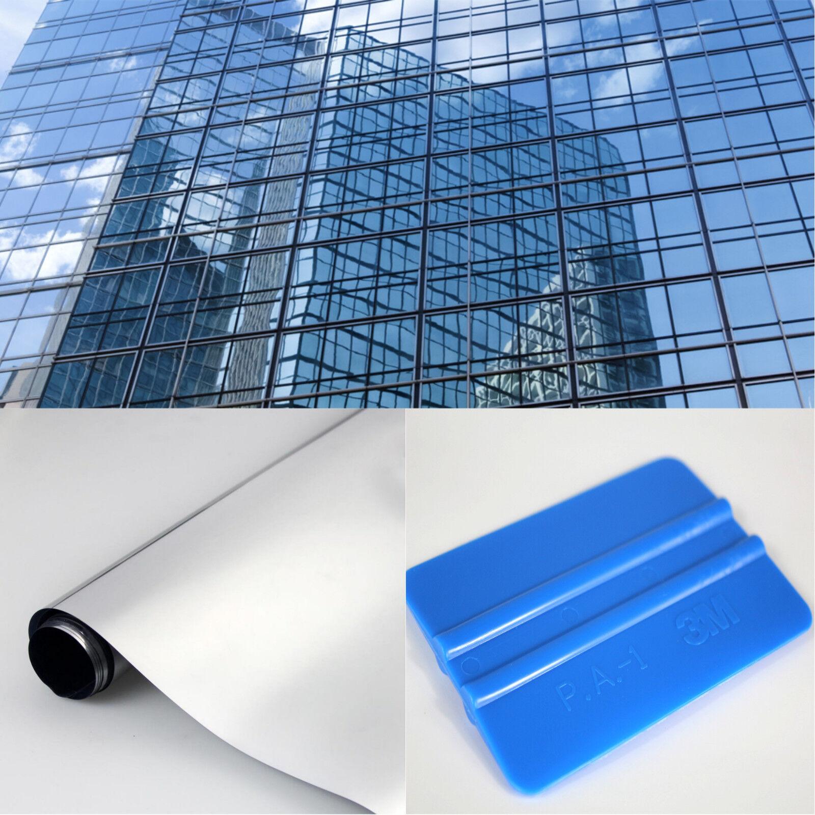 m² Spiegelfolie Fensterfolie Sichtschutzfolie UV Sonnenschutz Spionfolie