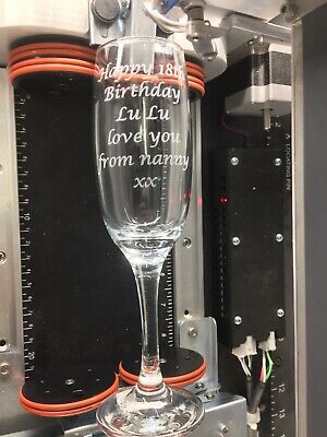Personalised Engraved Champagne Prosecco Glass Flute Bridesmaid Gift Wedding
