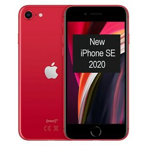 New Apple iPhone SE (2020) 128GB A2296 MXD22B/A Red Factory Unlocked 4G/LTE GSM