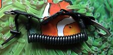 Spiralkabel mit Edelstahlsehne und Edelstahlkarabiner