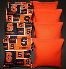 8 All Weather CORNHOLE BEANBAGS made w SYRACUSE University Fabric ACA Reg Bags