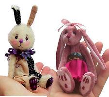 Mini Peluche Conejo patrones de costura por pcbangles (paquete De 2)