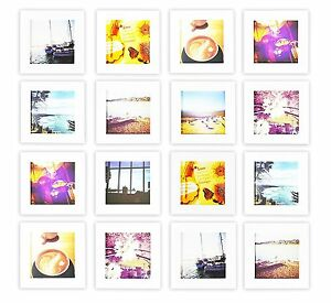 Smartphone Frame Collection Set Of 16 4x4 Inch Square Wood Frames