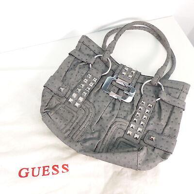 GUESS Shopper Damentasche Tasche Handtasche Schultertasche Grau Straußenleder Op | eBay