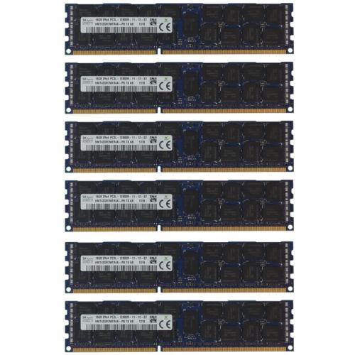 96GB Kit 6x 16GB HP Proliant ML370 SL160S SL170S DL180 DL170H G6 Memory Ram