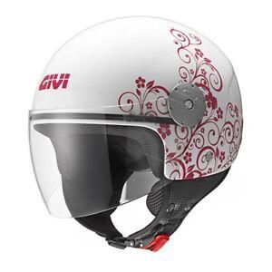 Casco Demi-jet Helmet Capacete Givi 10.7 Mini-j Art Nouveau Bianco Rosa Taglia S Divers ModèLes RéCents