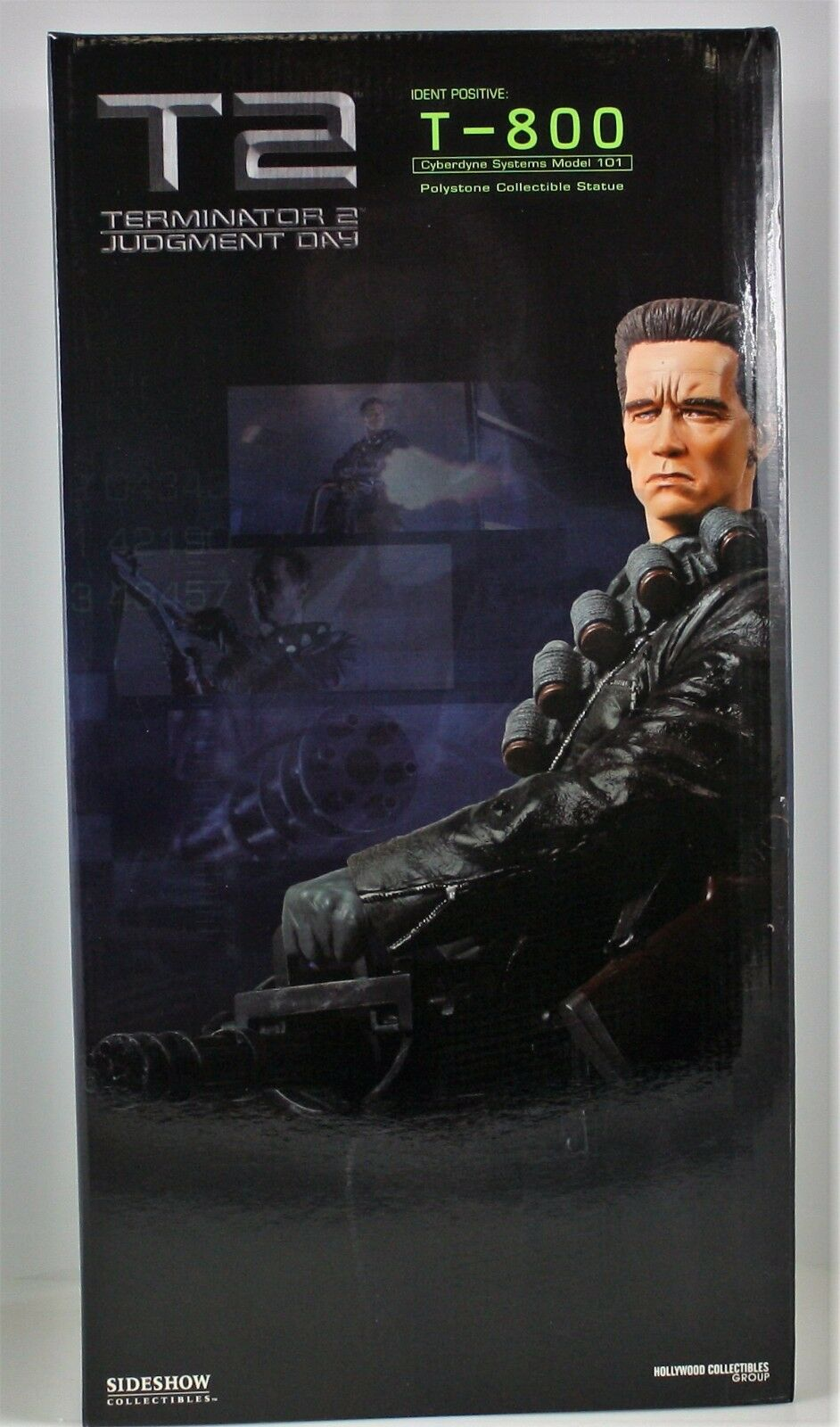 TERMINATOR 2 JUDGEMENT DAY EXCLUSIVE T-800 MINIGUN STATUE SIDESHOW 150 750