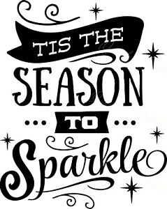 Christmas Vinyl Decals.Details About Tis The Season To Sparkle Christmas Vinyl Decal Free Shipping 844