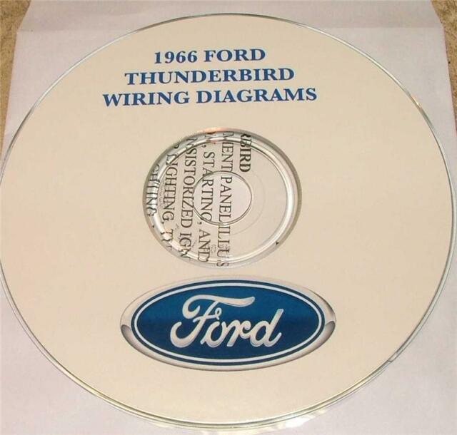 1966 Ford Thunderbird Wiring Diagram Manual On Cd
