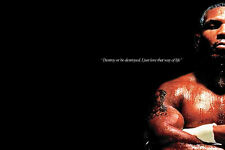 Framed Print - Iron Mike Tyson (Picture Poster Boxing MMA UFC Sport Fight Art)
