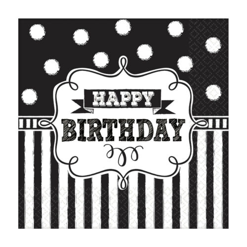 Banners Balloons /& Decorations CHALKBOARD BIRTHDAY Birthday Party Tableware