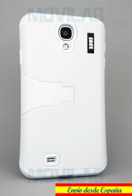Funda Samsung I9505 / I9500 Galaxy S4 protectora / bumper soporte blanca blanco