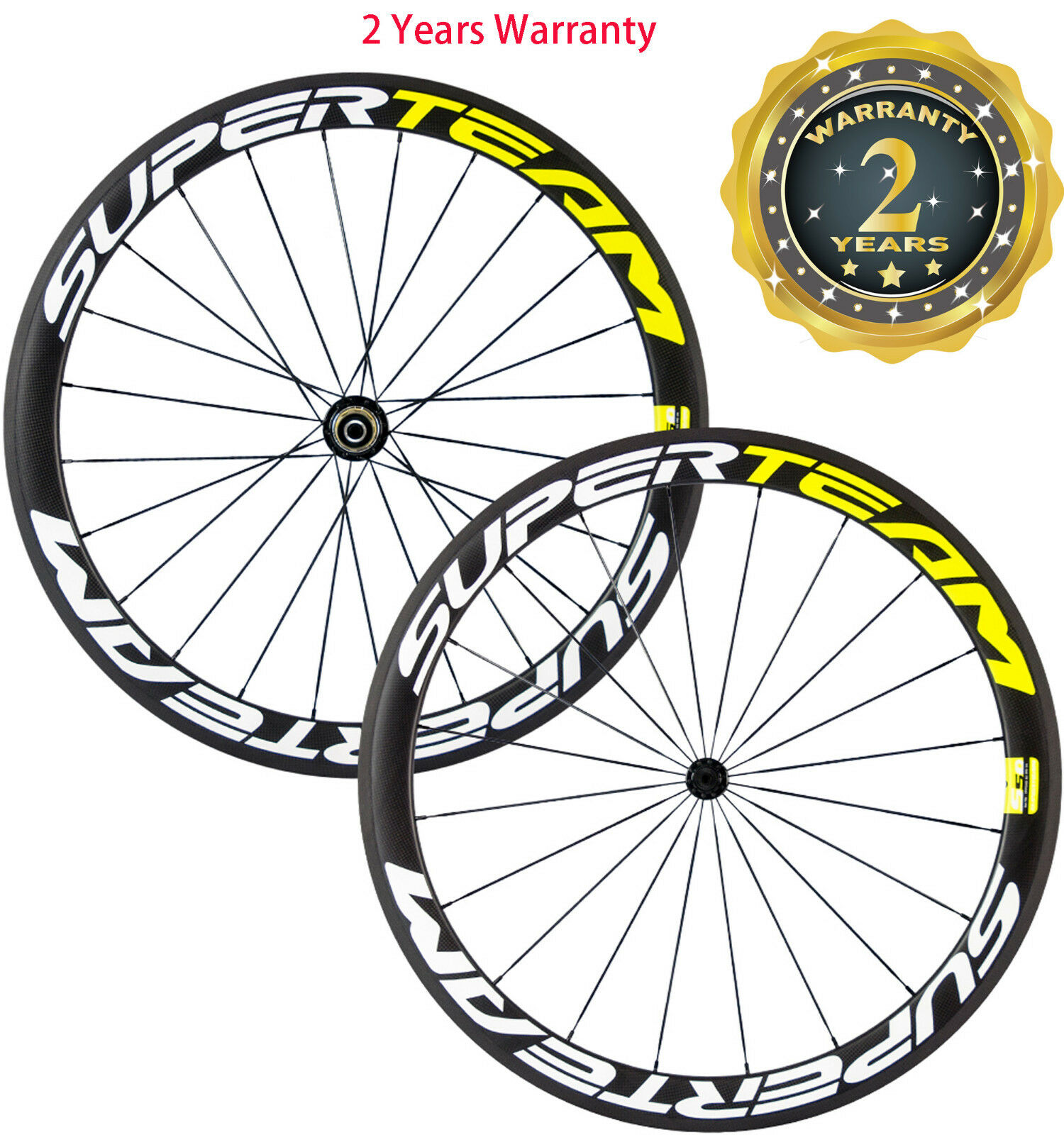 Superteam 50mm Depth Road Bike Wheels Carbon Wheelset  Bicycle Front&Rear Wheels  guaranteed