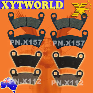 FRONT REAR Brake Pads POLARIS SIDE X SIDE 500 Ranger EFI 4x4 H.O. 2009-2011
