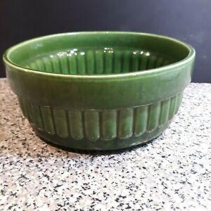 Vintage Haeger Green Planter Bowl 158 Vintage Ribbed Planter