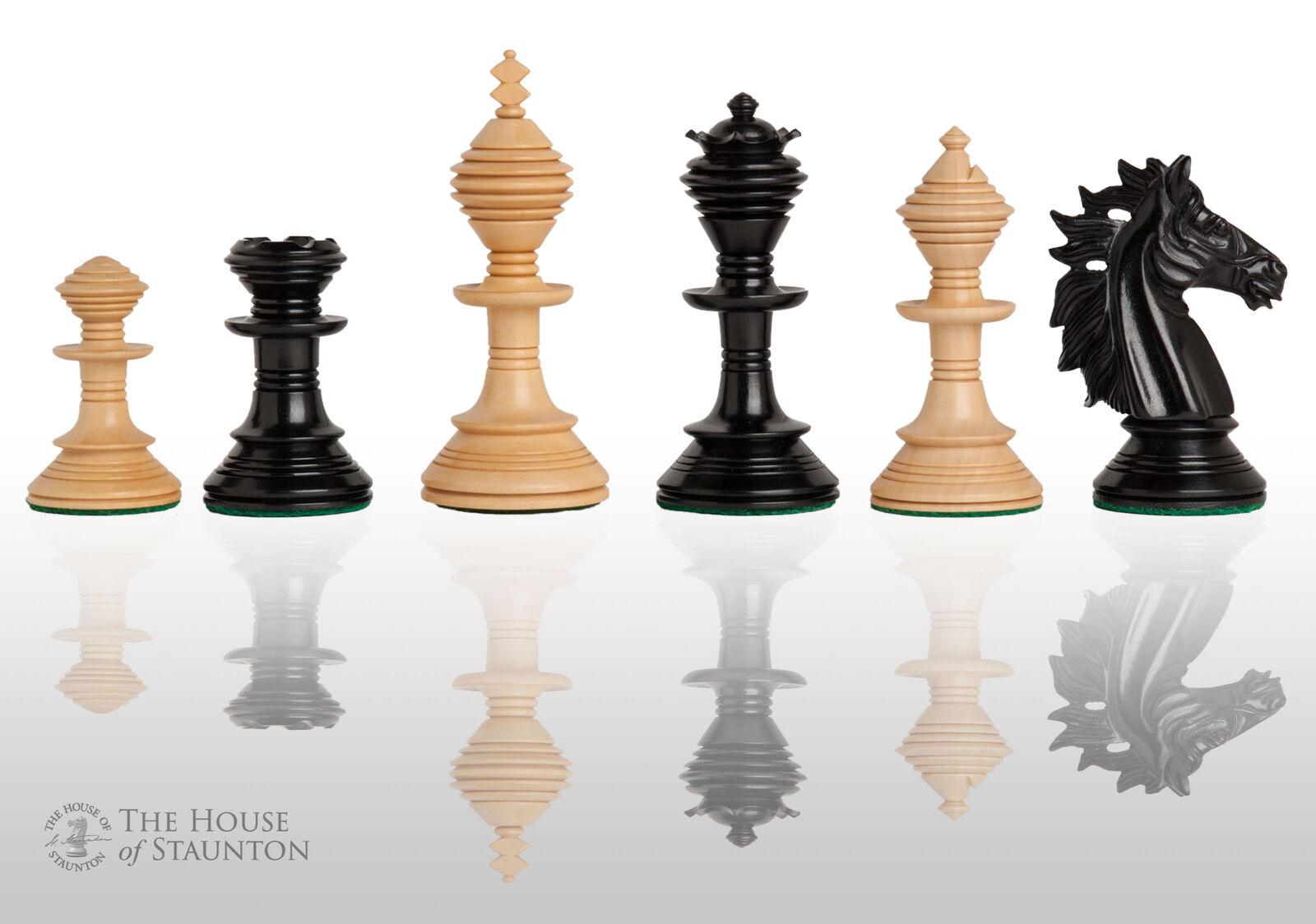 The Pavia Luxury Chess Set - Pieces Only - 4.4  King - Genuine Ebony