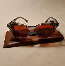 American Optical Vintage NOS safety glasses w/ Side Shields - 48 Med   Red-AMBER
