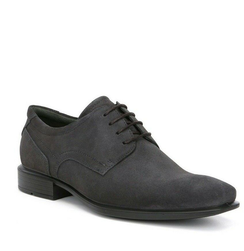 ECCO MEN'S CAIRO, CASUAL OXFORD SHOE, MOONLESS(GREY) SIZE 46 12-12.5, NEW IN BOX