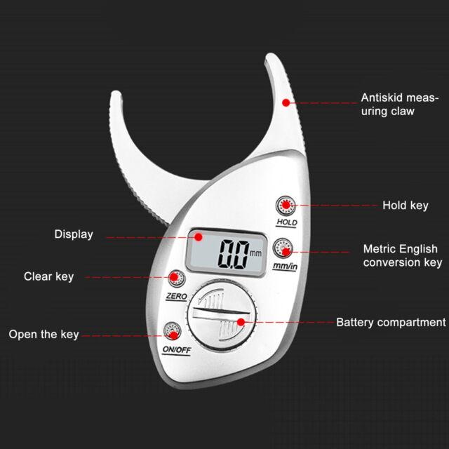 Digital LCD 0-50MM Body Fat Calipers Skin Fold Fitness Weight Loss Measure Tool