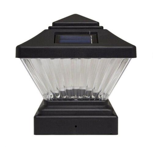 """Solar Wholesale 8005-D 4x4/"""" Matte Black Color Fence Post Cap Mount Solar Light"""